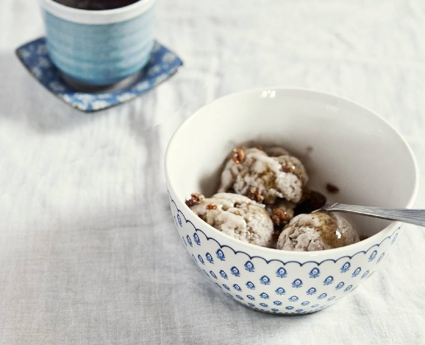 Dessert for Dogs: Peanut Butter & Carob Swirl Ice Cream