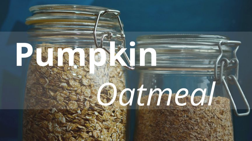 Pumpkin Oatmeal for You and Your Dog