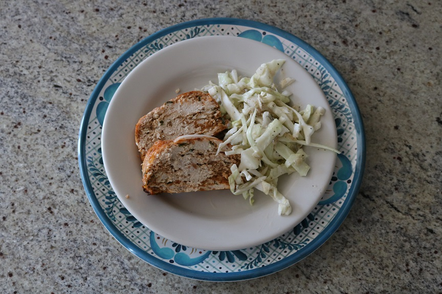 Southern Style Turkey Meatloaf and Coleslaw