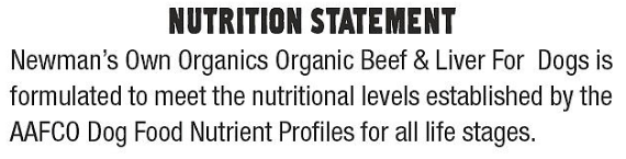 Newmans-Own-Organic-Beef-Liver-Dinner-for-Dogs-Nutrition-Statement