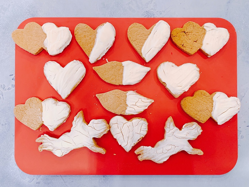 Valentine's Day Vanilla Peanut Butter Biscuits for Dogs